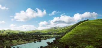 Ландшафт холмов острова Sumba стоковое изображение rf