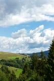 Ландшафт холмов прикарпатской горы Стоковая Фотография RF