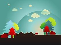ландшафт шаржа Стоковое Изображение RF