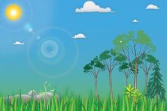 Ландшафт шаржа бесплатная иллюстрация