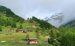 Ландшафт Швейцарии Стоковое фото RF