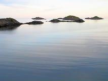 Ландшафт штиля на море стоковое изображение