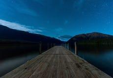 Ландшафт южного острова, Новой Зеландии Стоковое Изображение