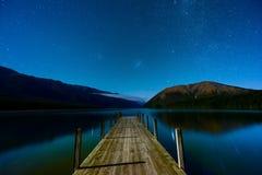 Ландшафт южного острова, Новой Зеландии Стоковые Изображения RF