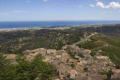 Ландшафт южной Италии, Калабрии, Gerace Стоковая Фотография RF