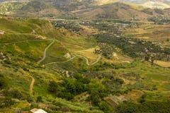 Ландшафт южной Италии, Калабрии, Gerace Стоковые Изображения RF