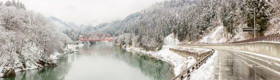 Ландшафт Япония зимы стоковое фото