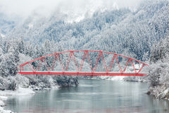Ландшафт Япония зимы стоковое фото rf