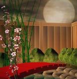 Ландшафт японца иллюстрация штока