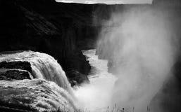 Ландшафт BnW Исландии Стоковые Фотографии RF