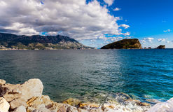 Ландшафт Budva riviera в Черногории стоковые фотографии rf