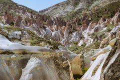 Ландшафт Cappadocia с горами и долинами стоковое фото