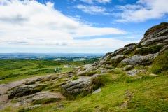 Ландшафт Dartmoor, Англия - панорама (2) стоковая фотография