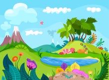 Ландшафт Dinos иллюстрация вектора