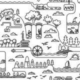 Ландшафт Doodle Стоковое Изображение
