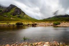 Ландшафт Geln Coe, Шотландия Стоковые Фотографии RF