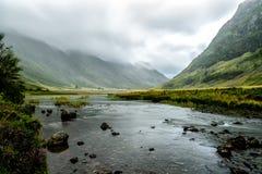 Ландшафт Geln Coe, Шотландия Стоковое Фото