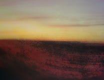 ландшафт grunge предпосылки абстрактного искусства Стоковое фото RF