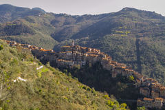 Ландшафт Imperia Apricale, Лигурия, Италия Стоковая Фотография RF