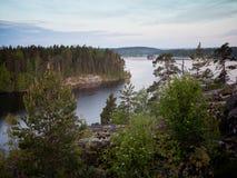 Ландшафт Karelia России Стоковые Фотографии RF