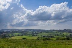 Ландшафт Lacock Англия Великобритания сельской местности Стоковое Изображение