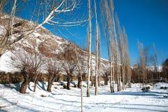 Ландшафт Ladakh в зиме Leh-Ladakh, Jammu и Kahsmir, Стоковые Фотографии RF