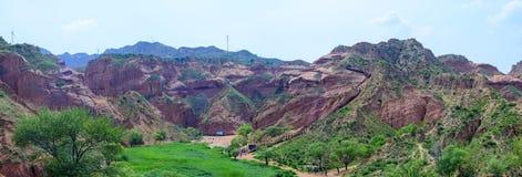 Ландшафт landform Danxia, Китая Стоковое фото RF