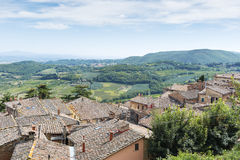 Ландшафт Montepulciano стоковое фото