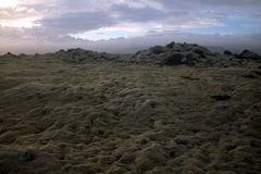 Ландшафт Myrdalsandur южный Исландии с вулканическим outwash Стоковая Фотография RF