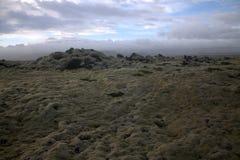 Ландшафт Myrdalsandur южный Исландии с вулканическим outwash Стоковое фото RF