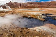 Ландшафт Namafjall горячий и steamy, Исландия Стоковое Изображение RF