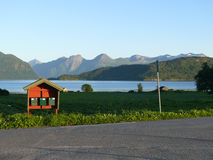 Ландшафт Nesjestranda Норвегии Стоковая Фотография