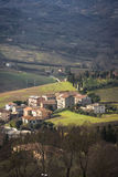 Ландшафт Orvieto Umbria, Италия Стоковое Изображение RF