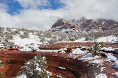 Ландшафт Sedona в зиме Стоковые Изображения RF