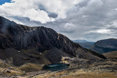 Ландшафт Snowdonia с озером Стоковая Фотография