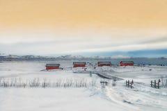 Ландшафт Thinkvallir, Исландия Стоковое фото RF