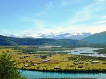 Ландшафт - Torres del Paine, Патагония, Чили Стоковые Фотографии RF