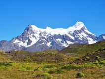 Ландшафт - Torres del Paine, Патагония, Чили Стоковые Фото