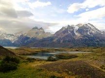 Ландшафт - Torres del Paine, Патагония, Чили Стоковые Изображения RF