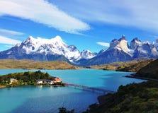 Ландшафт - Torres del Paine, Патагония, Чили Стоковое Изображение