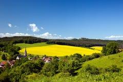 Ландшафт Unterbodnitz лета Стоковое Изображение RF