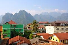 Ландшафт Vang Vieng Стоковая Фотография RF
