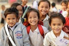 Лаосские маленькие девочки Стоковая Фотография