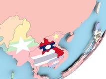 Лаос с флагом бесплатная иллюстрация