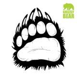 Лапка медведя иллюстрация вектора