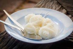 Лапша верхней тайской еды очень вкусная белая Стоковое фото RF