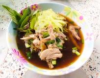 Лапша и куриный суп стоковые изображения rf