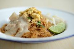 Лапша риса кокоса Стоковое Фото