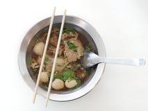 Лапша риса шарика говядины и мяса Стоковое Изображение RF