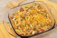 лапша сыра casserole стоковые изображения rf